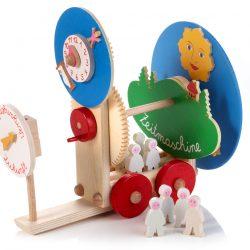 Zeitmaschine mit Drehspiel